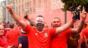 Wales fans in the centre of Lille before the UEFA Euro 2016, quarter final match at the Stade Pierre Mauroy, Lille. Joe Giddens/PA Wire