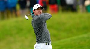 Rory McIlroy of Northern Ireland hits his 2nd shot on the 12th hole during the second round of the 100th Open de France at Le Golf National on July 1, 2016 in Paris, France. (Photo by Richard Martin-Roberts/Getty Images)