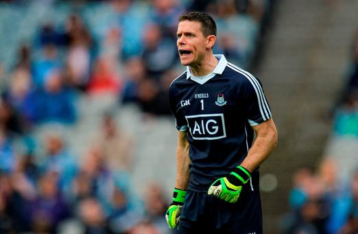 Stephen Cluxton of Dublin during the Leinster GAA Football Senior Championship Semi-Final match between Dublin and Meath at Croke Park in Dublin. Photo by Piaras Ó Mídheach/Sportsfile