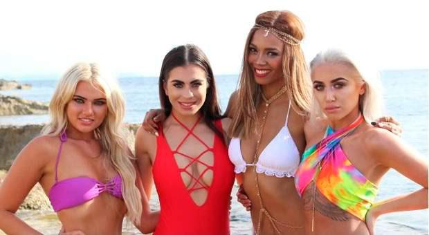 Love Island's Sinead Hegarty, Katie Salmon, Kasey Wynter and Chelsea Kelly.