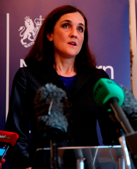 Northern Ireland Secretary Theresa Villiers speaking in Belfast in the wake of Brexit. Photo: PA