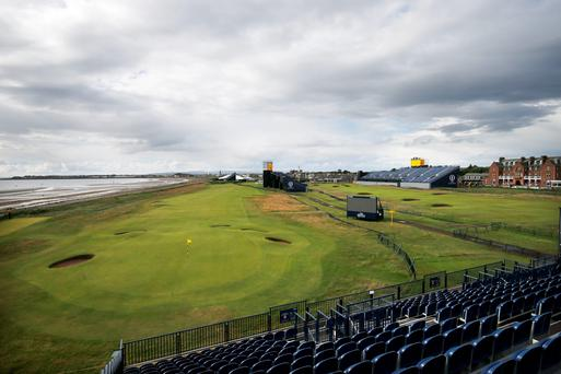 A view across the course towards the clubhouse at the Royal Troon Golf Club in Ayrshire, as members attend a special general meeting to vote on the club's male-only membership policy. Jane Barlow/PA Wire