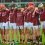 Galway players during the national anthem. Photo: Cody Glenn/Sportsfile
