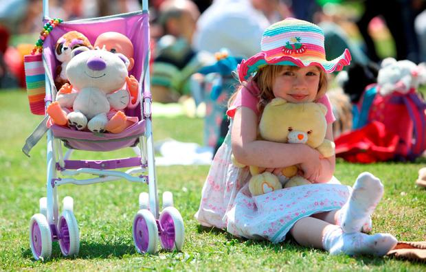 Grace Flynn at the Teddy Bears' Picnic in Blackrock Park