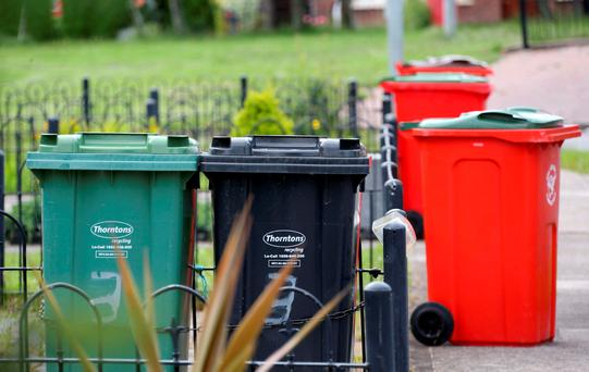 Families in Dublin and the Midlands face the highest bin charges when pay-by-weight comes into force next year. Picture Colin Keegan, Collins Dublin.