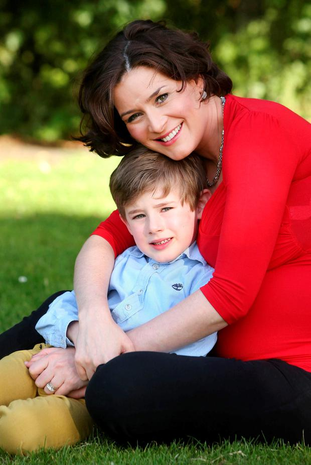 Kate O'Connell with her son Pierce. Photo: Damien Eagers