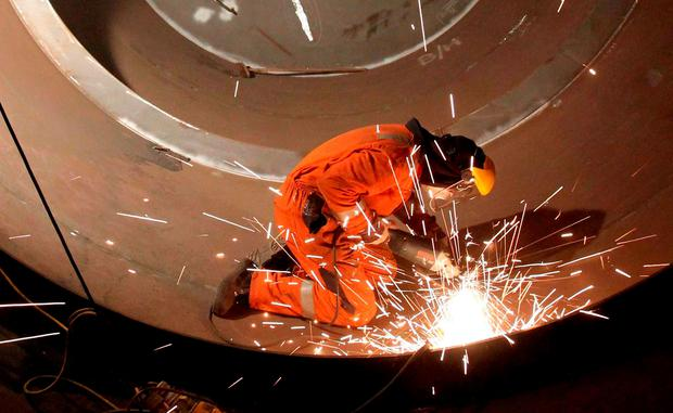 It was a welcome boost for the manufacturing sector which had suffered its weakest expansion in May in over two years.