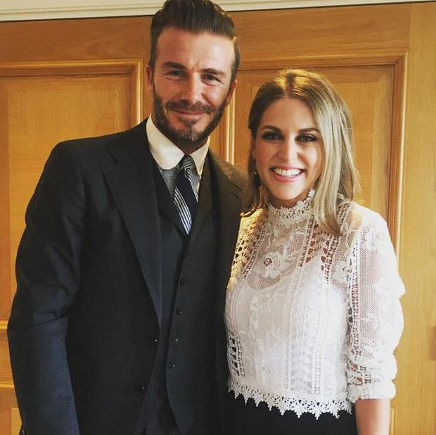 David Beckham and Amy Huberman: Photo Credit @AmyHuberman