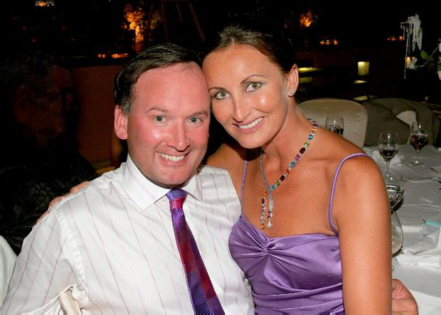 HAPPIER TIMES: Patrick and Annette Rocca pictured at the Marbella Ball in 2005