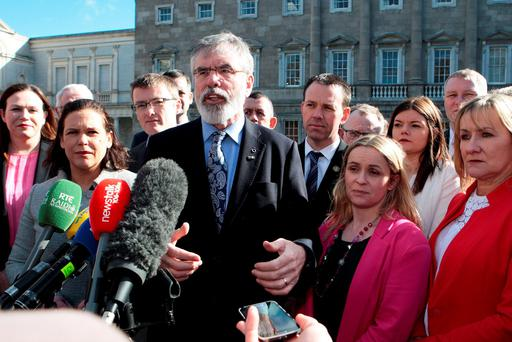 'Sinn Fein is a party that often flatters to deceive when there is no election.' Photo: Tom Burke