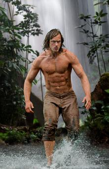 Alexander Skarsgard as Tarzan in the new Hollywood movie.