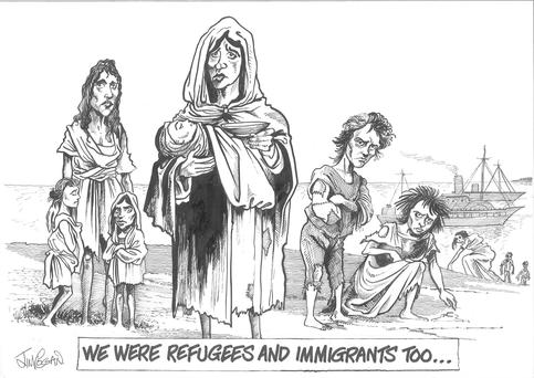 'Alas, we cannot point a clean finger. Ireland's record on racism, and refugees, is pretty poor.'