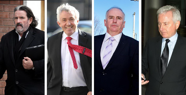 Developers, from left, Johnny Ronan, Michael O'Flynn, Luke Comer and Paddy McKillen believe Brexit can only be good for the Irish construction sector