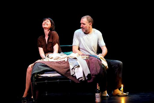 Wild stuff: Aisling O'Sullivan and Brian Doherty in Annabelle Comyn's production of The Wake.