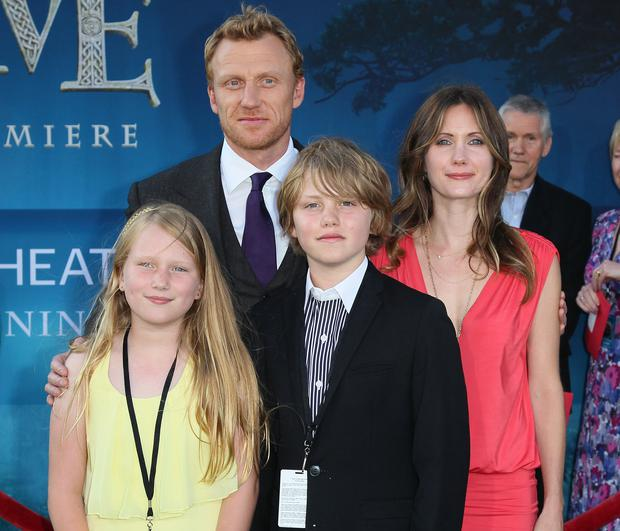 Actor Kevin McKidd, wife Jane Parker pictured with their children in 2012