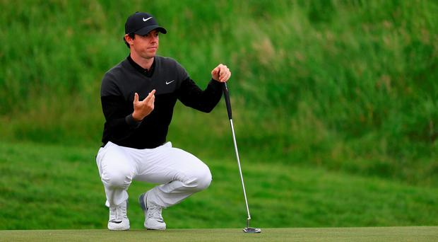 Rory McIlroy of Northern Ireland looks on during day four of the 100th Open de France at Le Golf National on July 3, 2016 in Paris, France. (Photo by Matthew Lewis/Getty Images)