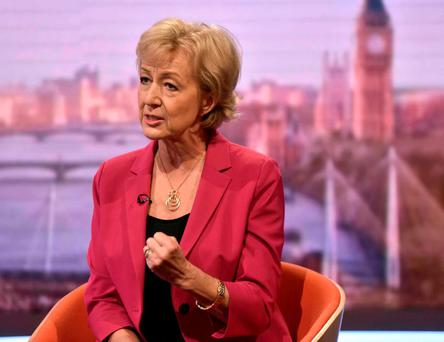 Andrea Leadsom. Photo: Jeff Overs/BBC/Handout via REUTERS