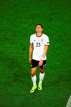 Mario Gomez will not play any further part for Loew's side. Photo by Lars Baron/Getty Images