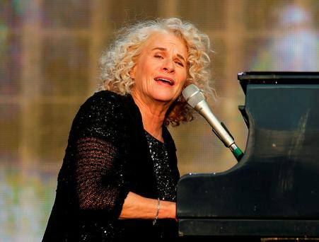 Carole King performing at the British Summer Time festival at Hyde Park in London. Photo: Daniel Leal-Olivas/PA Wire