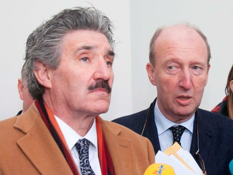 John Halligan (left) says he will vote against the Government and that Minister Shane Ross shares his views on the bill. Photo: Gareth Chaney