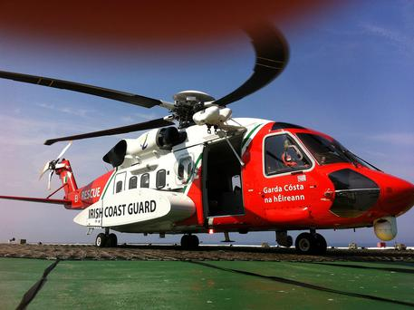 The Valentia Coastguard helicopter was dispatched to the scene, along with fire, ambulance and gardai. Stock picture