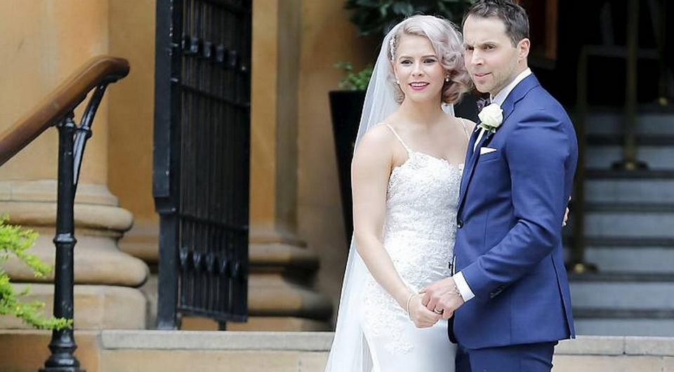 Rory McIlroy's ex-girlfriend Holly Sweeney wed hockey player Jeff Mason in Belfast. Picture: Kevin Scott/Belfast Telegraph