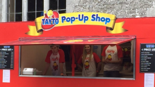 A Tayto pop-up shop was at Castlepalooza this weekend