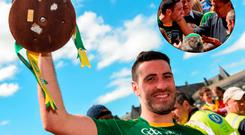 Kerry captain Bryan Sheehan with the Cup