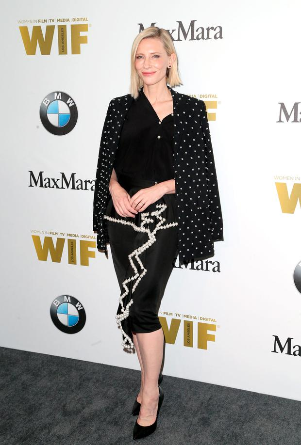 Actress Cate Blanchett attends Women In Film 2016 Crystal + Lucy Awards.