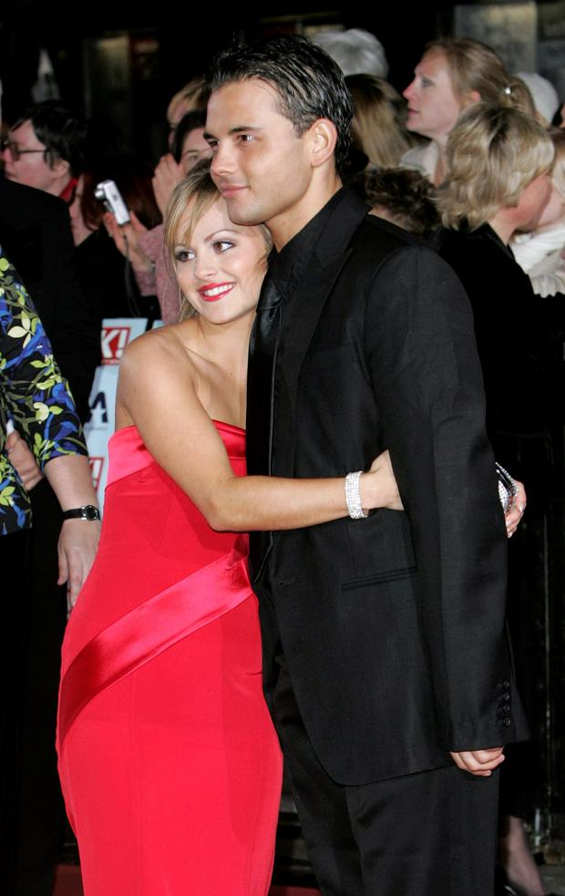 Actors Tina O'Brien and Ryan Thomas attend the National Television Awards 2006 held at the Royal Albert Hall on October 31, 2006 in London, England. (Photo by MJ Kim/Getty Images)