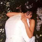 David and Victoria Beckham on their wedding day. Picture: Instagram