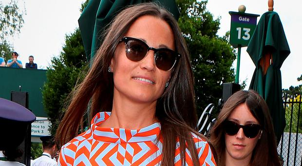 Pippa Middleton arrives on day seven of the Wimbledon Championships at the All England Lawn Tennis and Croquet Club, Wimbledon