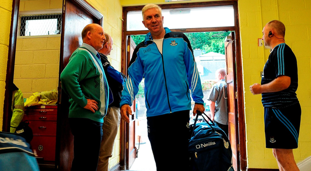 Dublin boss Ger Cunningham arrives at Pairc Ui Rinn on Saturday for their qualifier clash against Cork. Photo: Eóin Noonan/Sportsfile