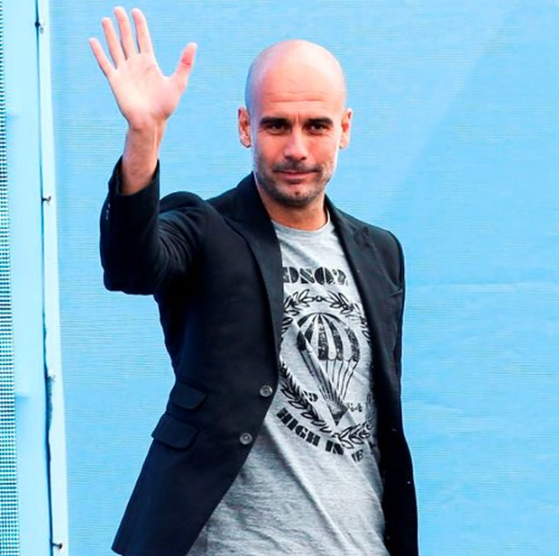 Manchester City manager Pep Guardiola Photo: Barrington Coombs/PA Wire