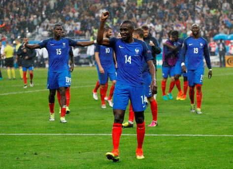 France's Blaise Matuidi celebrates after France beat Iceland