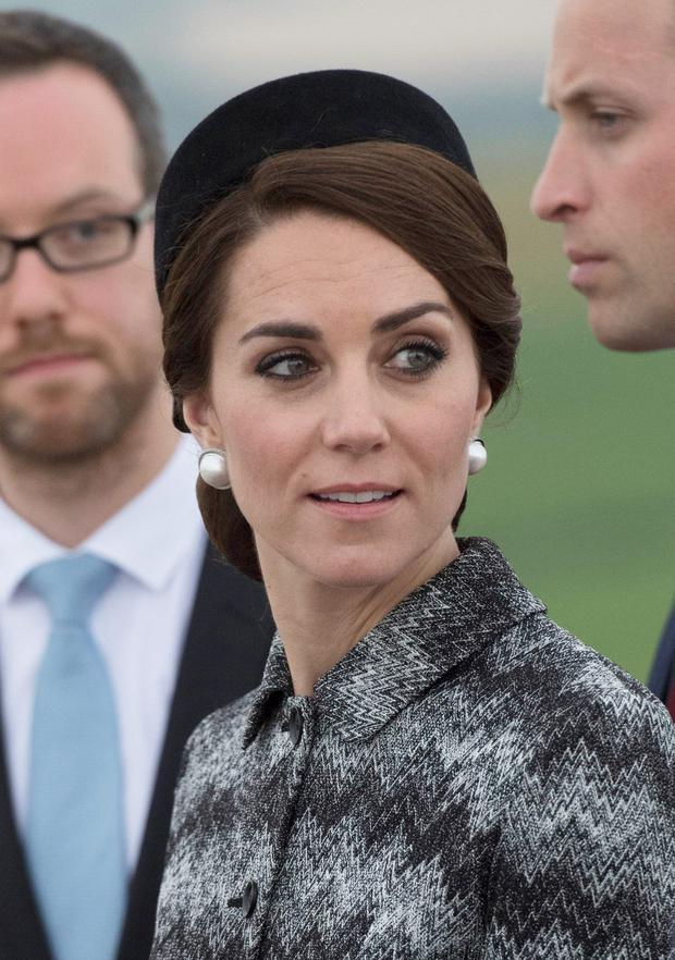 Catherine, Duchess of Cambridge attends the Somme Centenary commemorations at the Thiepval Memorial on June 30, 2016 in Albert, France. (Photo by Tim Rooke - Pool/Getty Images)