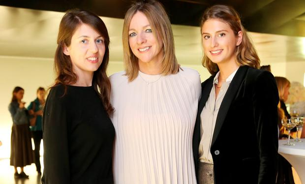Laura Giuliani, Melissa Jones and Alice Herbert at Tiffany & Co.'s exclusive 'Crazy About Tiffany's' Premiere at the Lighthouse Cinema. Picture: Sasko Lazarov / Photocall Ireland