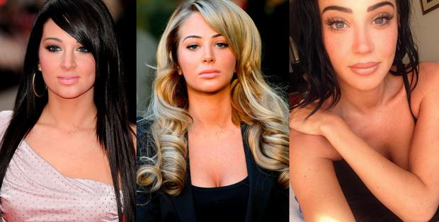 (L to R) Tulisa in 2012, 2014 and 2016