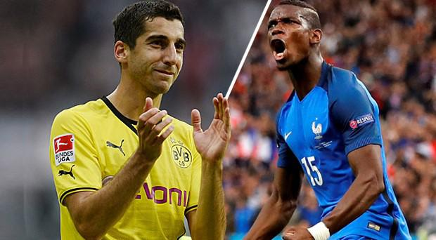 Henrikh Mkhitaryan and Paul Pogba could be the next two men to join Manchester United