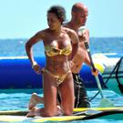 Singer Mel B and husband Stephen Belafonte enjoying holidays on board of a luxury yacht in Ibiza. Picture: Splash News