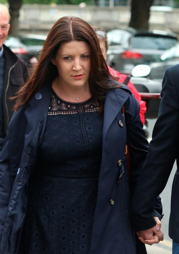 Catriona Enright, of Raheen, Ballyneety, Co. Limerick pictured arriving at the Four Courts yesterday for a High Court action for damages on behalf of her son, Charlie. Pic:Collins Courts
