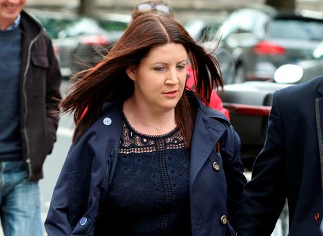 Catriona Enright, of Raheen, Ballyneety, Co. Limerick pictured arriving at the Four Courts for a High Court action for damages on behalf of her son, Charlie. Pic:Collins Courts