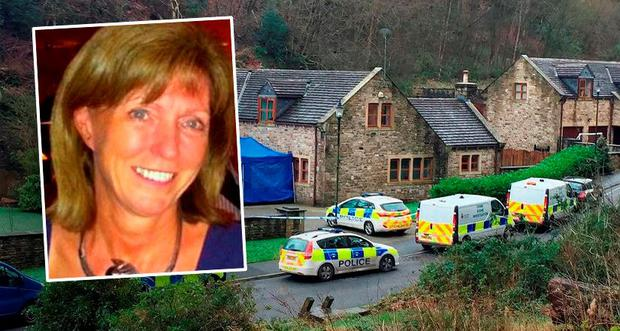 Police outside a house on Sunny Bank Road in Helmshore, Lancashire as a murder investigation has been launched after Sadie Hartley was found dead. Pat Hurst/PA Wire Inset: Mother-of-three Sadie Hartley