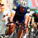 Marcel Kittel (L) of Germany and Etixx Quick Step wins the stage from Bryan Coquard (R) of France and Direct Energie during stage four of Le Tour de France from Saumar to Limoges. (Photo by Michael Steele/Getty Images)