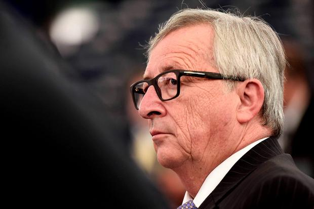 The European Commission President Jean-Claude Juncker at a debate in the European Parliament in Strasbourg yesterday. Photo: FREDERICK FLORIN/AFP/Getty Images