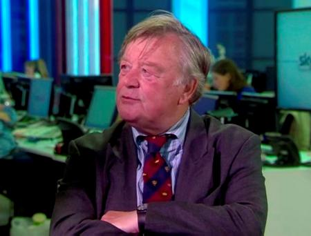 Former UK chancellor Ken Clarke made his comments on the Tory leadership rivals in a Sky News studio. Photo: Sky News