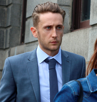 Shane Travers outside court yesterday Photo: Collins