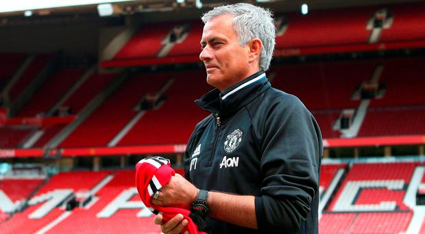 Jose Mourinho: 'It is not a dream job. It is reality as Manchester United manager. I think it is a job everyone wants and not many have a chance to have, and I have it.' (Photo by Dave Thompson/Getty Images)
