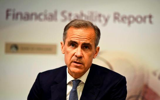Bank of England governor Mark Carney speaks during a news conference in London Picture: REUTERS/Dylan Martinez