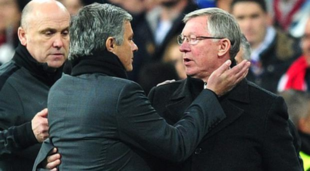 Alex Ferguson and José Mourinho. Photo: PA